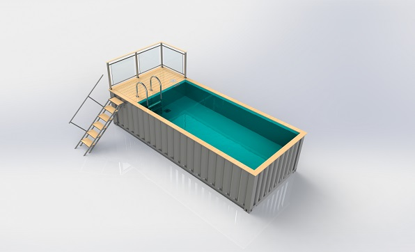 piscine container plan