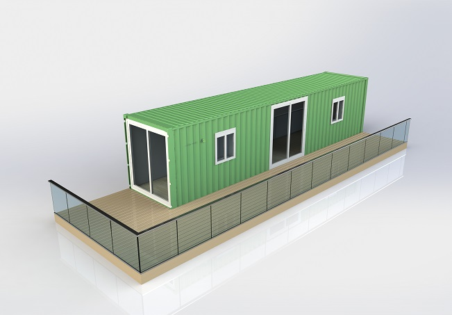 plan container en mobil home
